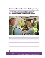 A03 – Company Health and Safety Policies