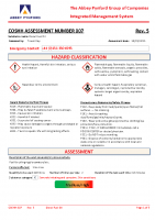 COSHH007 – 2022.08.31 – Diesel Fuel Oil – Issue 5