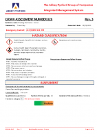 COSHH026 – 2022.01.25 – Welding Electrodes – Fumes – Issue 3