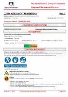 COSHH061 – 2022.02.05 – Lubricating Grease for Electrical breakers and drills – Issue 2
