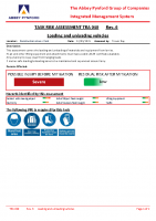 TRA040 – 2022.03.31 – Loading and unloading vehicles – Issue 6